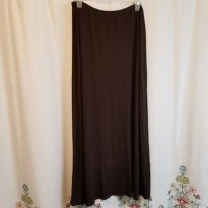 Chico's brown maxi skirt